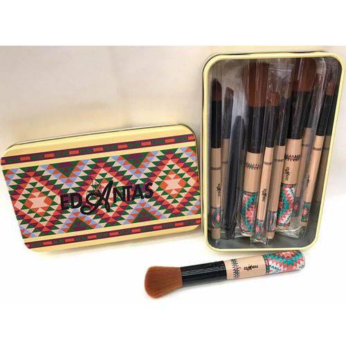 Tudo sobre 'Kit com 11 Pincéis para Maquiagem -Sz 003 - Mandala'