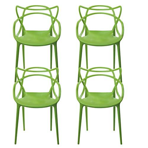 Kit com 4 Cadeiras Allegra Verde