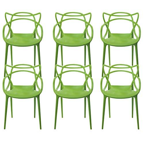 Kit com 6 Cadeiras Allegra Verde