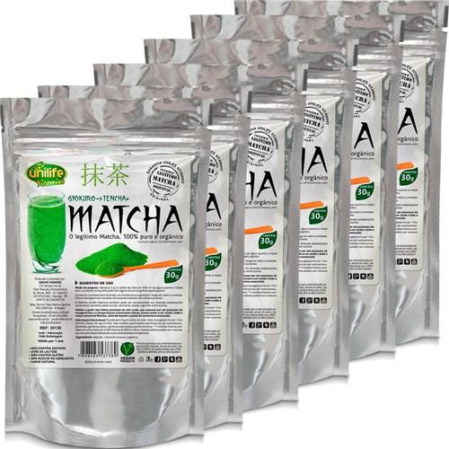 Kit com 6 Unidades de Matcha Puro Orgânico Solúvel 30g Unilife