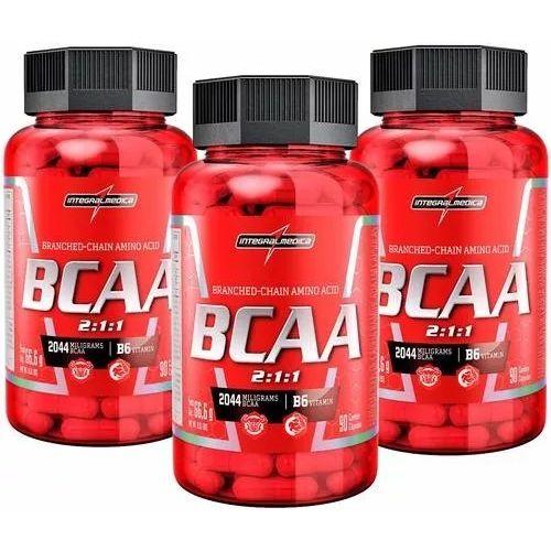 Kit com 3 Bcaa - 90 Cápsulas - Integralmedica