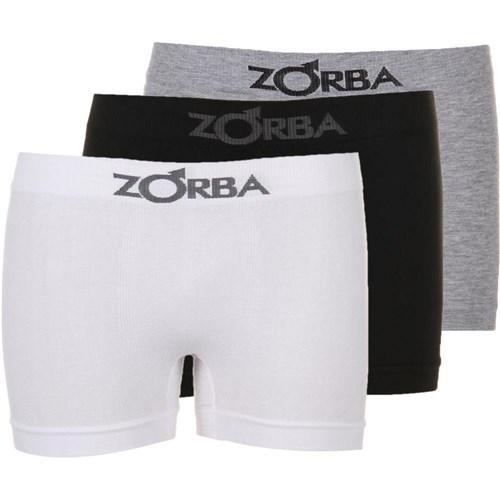 Tudo sobre 'Kit Com 3 Cuecas Boxer Zorba Sem Costura P'