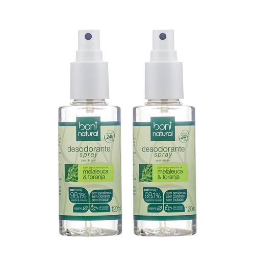 Tudo sobre 'Kit com 2 Desodorantes Spray Natural Melaleuca e Toranja – Boni Natural'