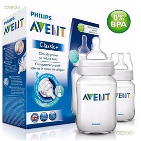 Kit com 2 Mamadeiras - 260ML Classic+ Philips Avent