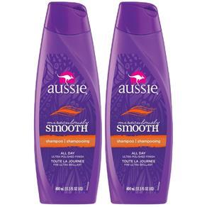 Kit com 2 Shampoos Aussie Miraculously Smooth 400ml - 400 Ml