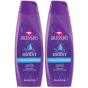 Kit com 2 Shampoos Aussie Moist 400ml - 400 Ml