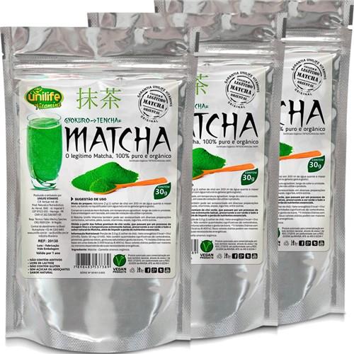 Kit com 3 Unidades de Matcha Puro Orgânico Solúvel 30g Unilife