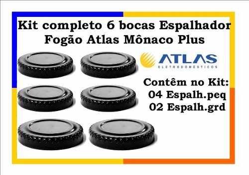 Tudo sobre 'Kit Completo 6 Bocas Fogão Atlas Mônaco Plus'