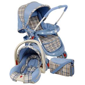Kit Cosco Cruiser Ts Travel System: Carrinho+bebê Conforto+bolsa Travel System Cosco Cruiser Ts Azul