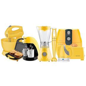 Kit Cozinha Completa Colors Amarelo Cadence - 220V