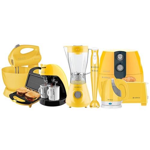 Kit Cozinha Completa Colors Amarelo Cadence 127V