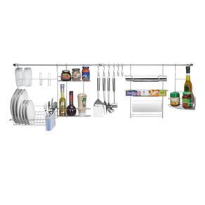 Tudo sobre 'Kit Cozinha Suspensa Cook Home 1 Arthi - Prata'