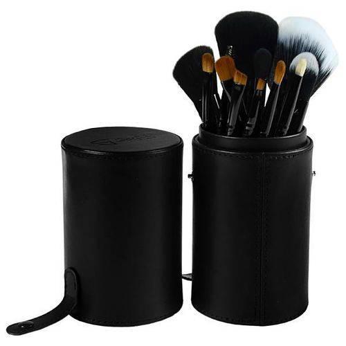 Tudo sobre 'Kit de Pinceis para Maquiagem Gati de 13 Peças - Preto'