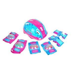 Kit de Proteção com Capacete, Cotoveleira e Joelheira Infantil Feminino - Es105 - Atrio