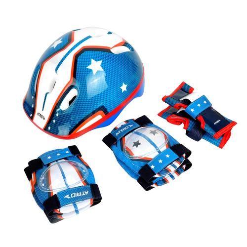 Kit de Proteção com Capacete, Cotoveleira e Joelheira Infantil Masculino ? Es104 - Atrio