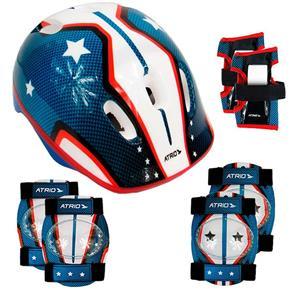 Kit de Proteção Infantil Bicicleta Skate Patins Patinete Azul