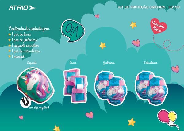 Kit de Proteção Infantil Unicórnio Atrio - ES199