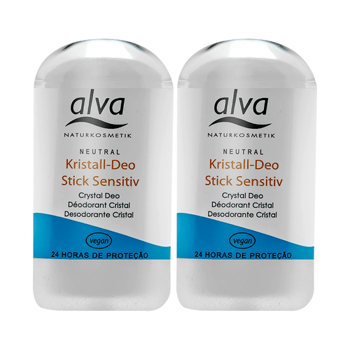 Kit 2 Desodorantes Stick Kristall Sensitive 60g - Alva