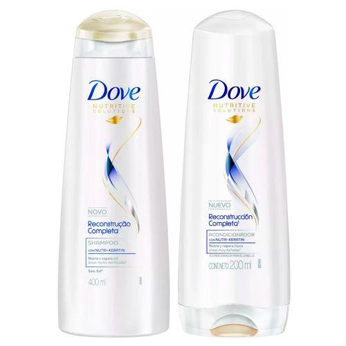 Kit Dove Reconstrução Completa Shampoo 400ml + Condicionador 200ml