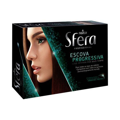 Kit Escova Progressiva Sfera Nazca - Liso Intenso