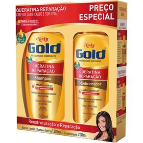 Kit Especial Shampoo + Condicionador Queratina Reparação 500ml