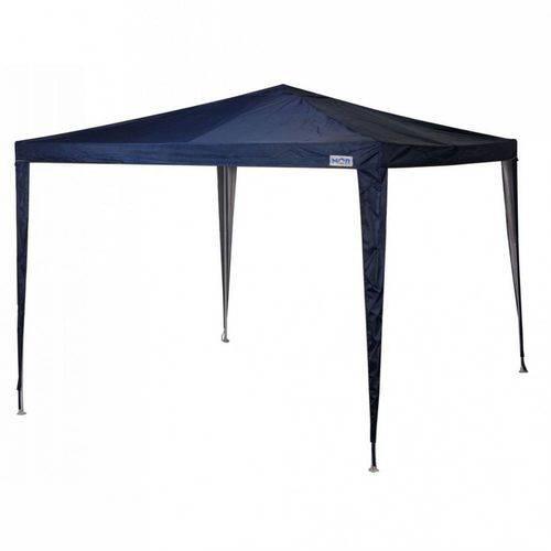 Tudo sobre 'Kit Gazebo Tenda Base e Topo 3m X 3m Poliester Oxford Azul com 2 Paredes'