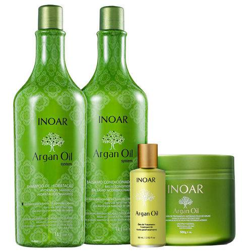Kit Inoar Argan Oil Completo (4 Produtos)
