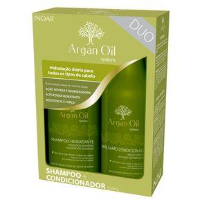 Kit Inoar Argan Oil System Duo (Shampoo e Condicionador) Conjunto