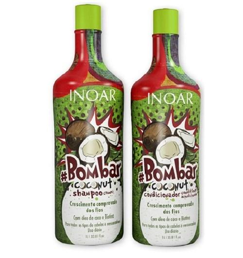 Kit Inoar Bombar Coconut Shampoo + Condicionador 1 L.