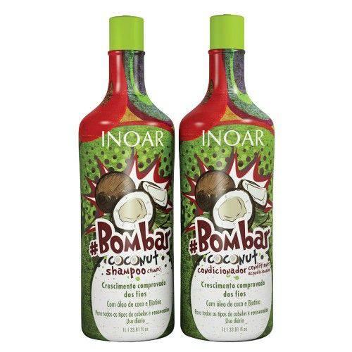 Kit Inoar Bombar Coconut Shampoo + Condicionador 1000ml