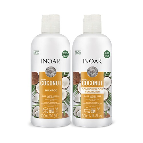Kit Inoar Bombar Coconut Shampoo + Condicionador 500ml