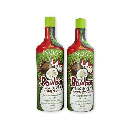 Kit Inoar Bombar Coconut Shampoo e Condicionador 1l