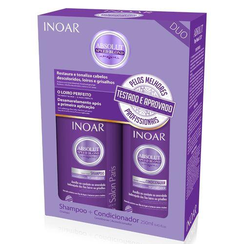 Kit Inoar Speed Blond Shampoo+condicionador 250ml
