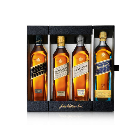 Kit Johnnie Walker The Collection 200Ml 4 Unidades