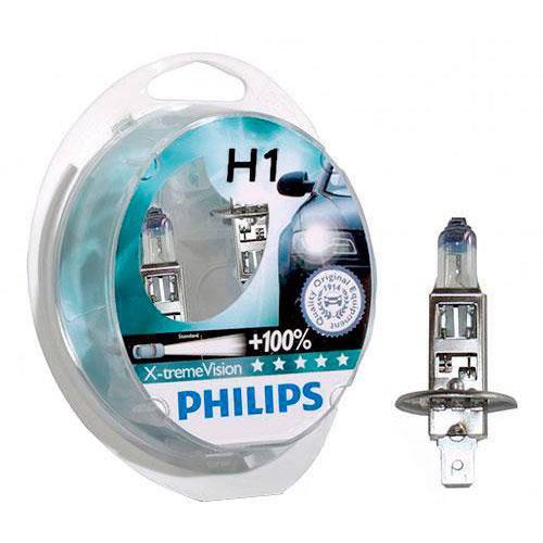 Tudo sobre 'Kit Lampada Philips Xtreme Vision H1 55w 12v - Efeito Xenon'