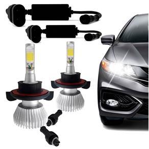 Kit Lâmpada Super Led Headlight H13 6000K 12V 24V Efeito Xenon