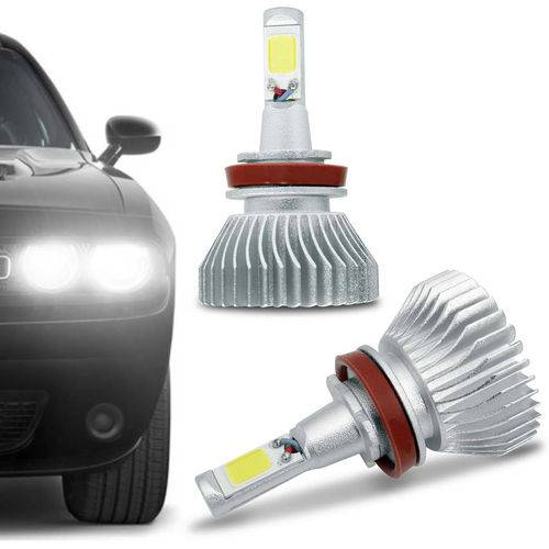 Kit Lâmpada Super Led Headlight H11 6000K 12V 24V 32W 2200LM Efeito Xenon