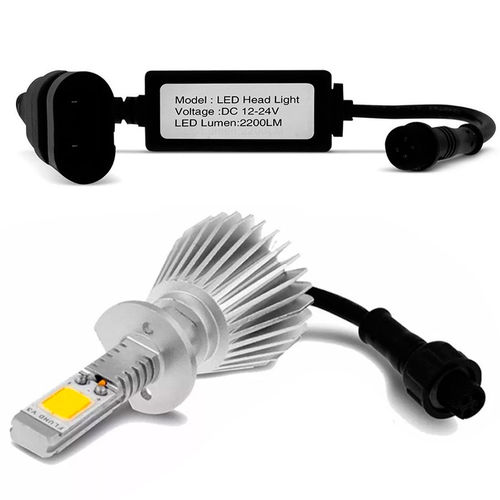 Kit Lâmpada Super Led Headlight H16 6000k 12v e 24v Efeito Xenon