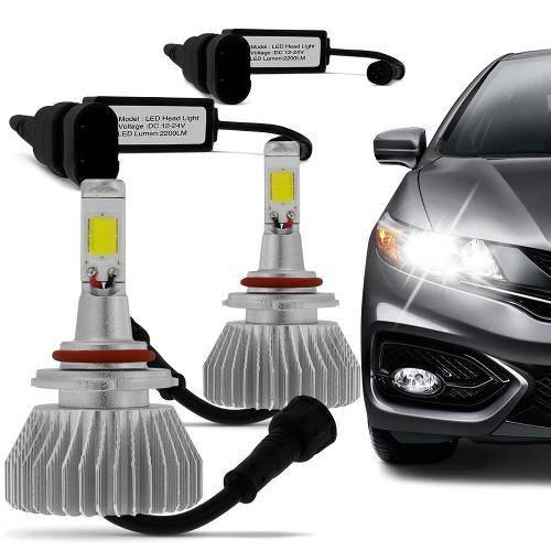 Kit Lâmpada Super Led Headlight H7 6000k 12v e 24v Efeito Xenon
