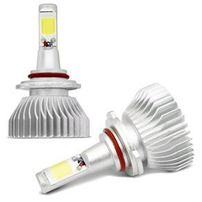 Kit Lâmpadas Super LED 2D Headlight H1 H3 H4 H7 H8 H11 H27 HB3 HB4 6000K 35W 12V Efeito Xênon