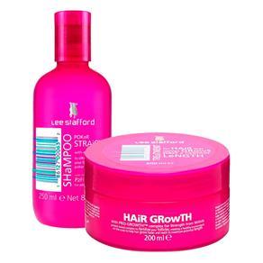 Kit Lee Stafford Shampoo Poker Straight 250ml + Máscara de Tratamento Hair Growth 200ml