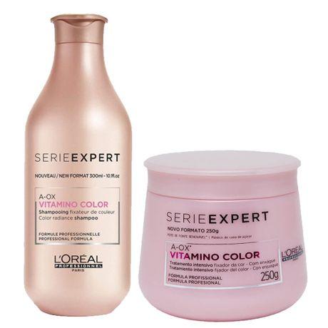 Kit L'Oréal Professionnel Vitamino Color A-OX Shampoo 300ml + Máscara 250ml