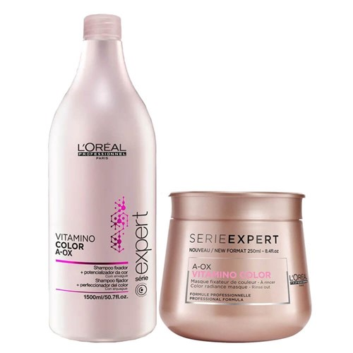 Kit L'oréal Professionnel Vitamino Color A-Ox (Shampoo 1,5L e Máscara 250G)