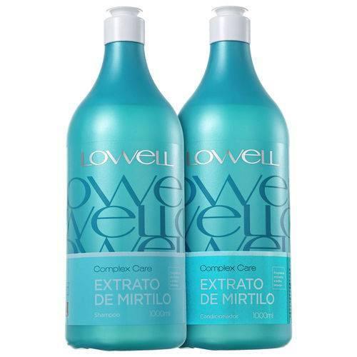 Kit Lowell Extrato de Mirtilo Shampoo 1000ml + Condicionador 1000ml