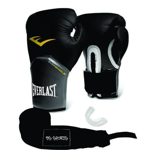 Luva Everlast Pro Style Elite Preta 12oz Bandagem/bucal
