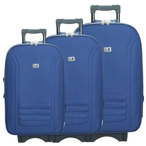 Tudo sobre 'Kit Malas de Viagem IMPORTWAY Azul (P, M e G)'