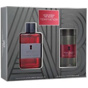 Kit Masculino Antonio Banderas The Secret Temptation EDT - 100 Ml