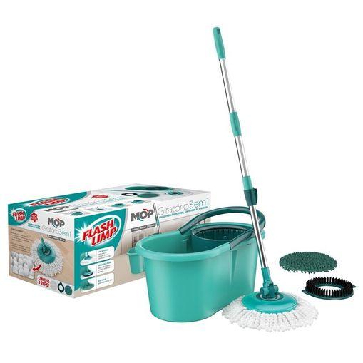 Tudo sobre 'Kit Mop Giratório 3 em 1 Flash Limp'