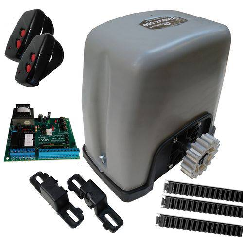 Tudo sobre 'Kit Motor Portão Dzmove 500 Turbo 110v Resid Engemove 4mts'