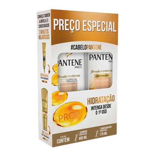 Kit Pantene Hidratação Shampoo 400Ml + Condicionador 175Ml
